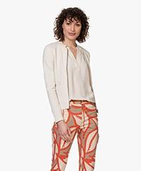 Kyra & Ko Stijn Jersey Blazer Jacket - Bone
