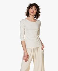 Josephine & Co Blythe T-shirt met Driekwart Mouwen - Stone