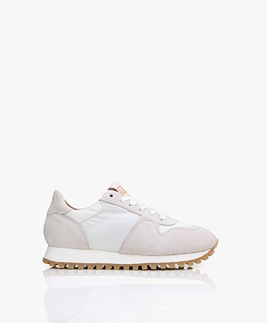 Closed Pepper Mesh & Suede Sneakers - White/Greige