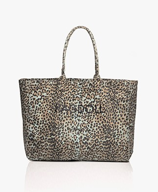 Ragdoll LA Holiday Bag in Leopard Canvas - Blue