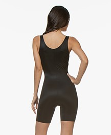 SPANX® Conceal-Her! Open-Bust Mid-Thigh Bodysuit - Very Black