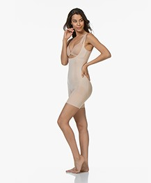 SPANX® OnCore Open-Bust Mid-Thigh Bodysuit - Soft Nude