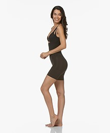 SPANX® OnCore Open-Bust Mid-Thigh Bodysuit - Black