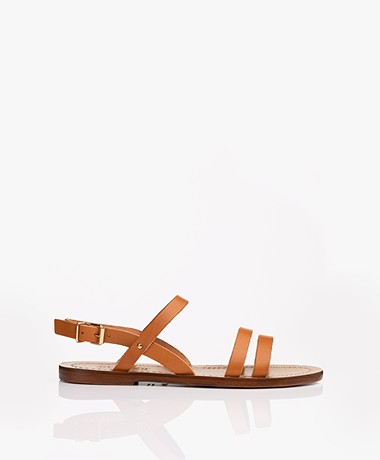 Closed Salty Leather Sandals - Cognac