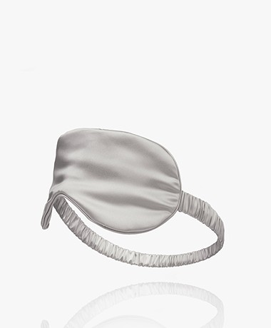 By Dariia Day Mulberry Silk Sleep Mask - Silver Grey