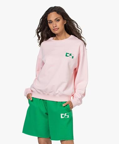 Dolly Sports Team Dolly Katoenen Sweatshirt - Lichtroze