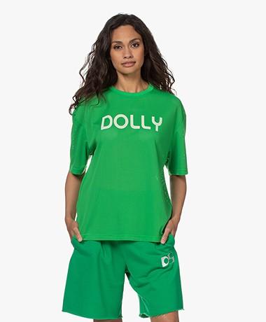 Dolly Sports Team Dolly Geperforeerd Mesh Print T-shirt - Groen