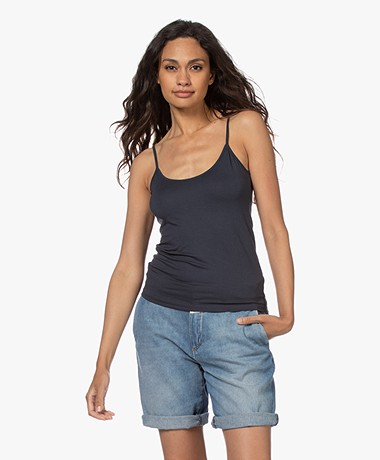 Majestic Filatures Anais Soft Touch Jersey Spaghetti Strap Top - Ombra