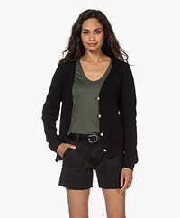 by-bar Quinty Cotton Fisherman's Button-through Cardigan - Midnight