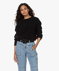 American Vintage Zabidoo Kid Mohair Blend Sweater - Black