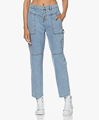 ba&sh Tanguy Utility Jeans - Light Used Blue