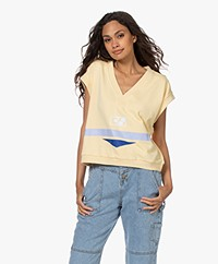 Dolly Sports Diana Cotton Printed Spencer - Light Yellow