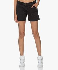 ba&sh Cselby Cotton Denim Shorts - Blackstone