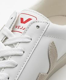 VEJA Esplar Low Logo Leren Sneakers - Wit/Natural/Pekin