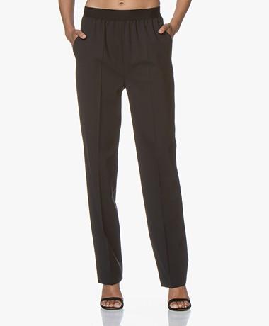 Drykorn Grade Wolmix Twill Pantalon - Zwart