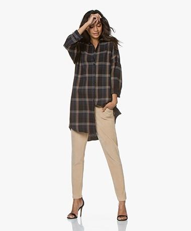 by-bar Oversized Checkered Shirt Dress - Midnight