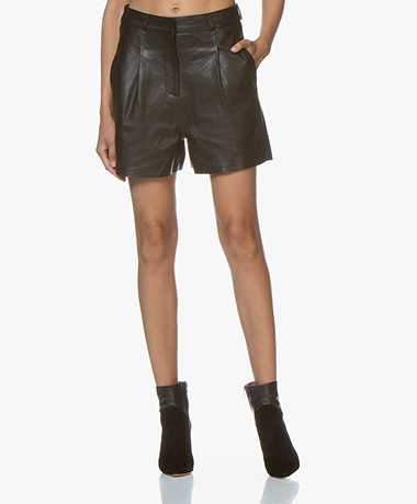 by-bar Lexi Leren Short - Zwart