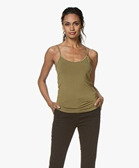 no man's land Viscose Singlet - Matcha