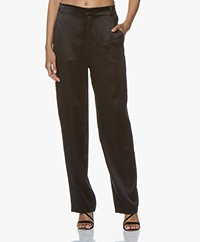 Joseph Jack Silk-satin Pants - Black