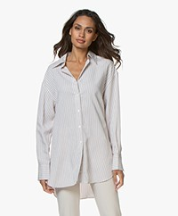 Filippa K Nina Striped Shirt - Ivory/Powder/Snow