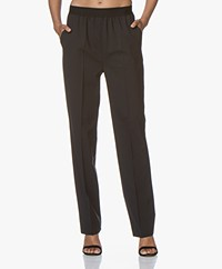 Drykorn Grade Wool Blend Twill Pants - Black