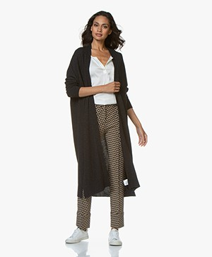Sibin/Linnebjerg Sister Long Open Cardigan - Anthracite