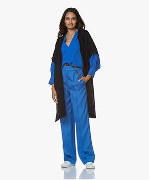 Repeat Short Sleeve Poncho Cardigan - Navy