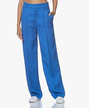 Joseph Quarius Loose-fit Twill Pantalon - Blauw