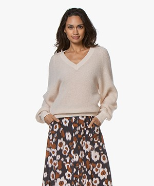 Vanessa Bruno Linda Mohair Blend V-neck Sweater - Chair