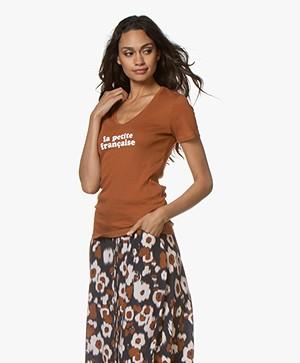 La Petite Française Thibault Logo T-Shirt - Noisette