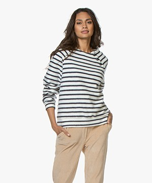 Petit Bateau Mariniere 'Fleece Finish' Trui - Coquille/Smoking