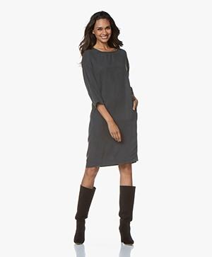 by-bar New Tess Dress Nakai Lyocell Jurk - Vintage Groen