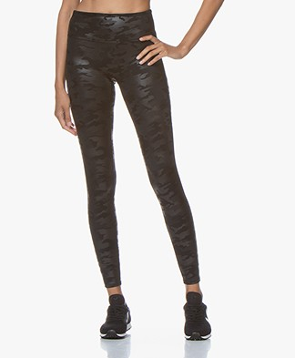 SPANX® Faux Leather Camo Leggings - Matte Black