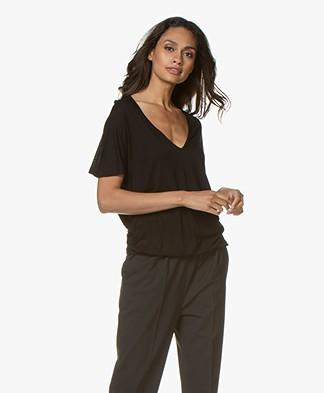 by-bar Donna Drawstring T-shirt - Black