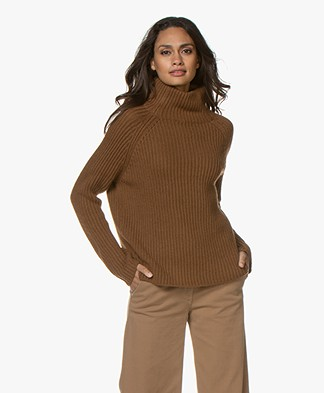 Drykorn Arwen Rib Knit Turtleneck Sweater - Brown
