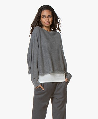 Repeat Cashmere Franje Trui - Mud