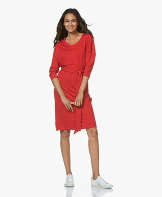 LaSalle Crepe Jersey Dress - Red