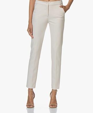 LaSalle Pencil Crêpe Jersey Pantalon - Panna