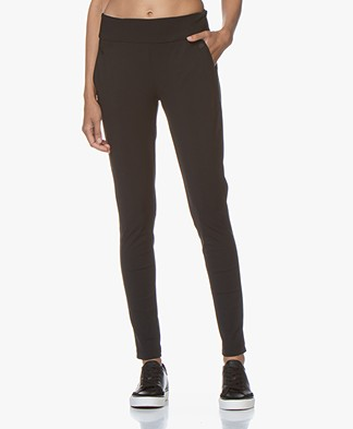 Woman By Earn Amber Travel Jersey Pants - Black