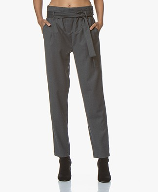 Woman by Earn Maddy Wolmix Pantalon - Medium Grijs