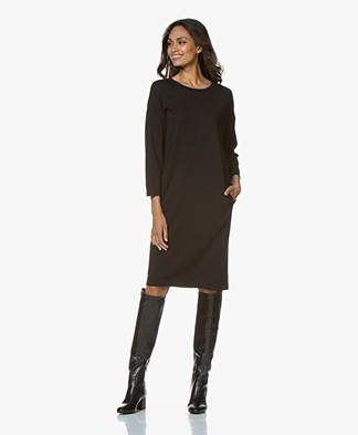 BY-BAR New Tess Punta di Roma Jersey Dress - Black