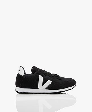 VEJA SDU Rec Flannel Sneakers - Black/White