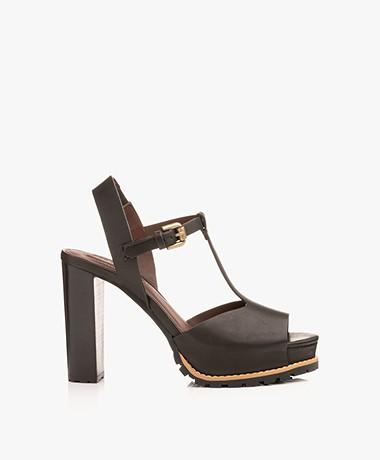 See By Chloé Brooke Block Heel Sandals - Black