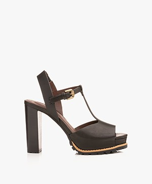 See By Chloé Brooke Block Heel Sandals - Black