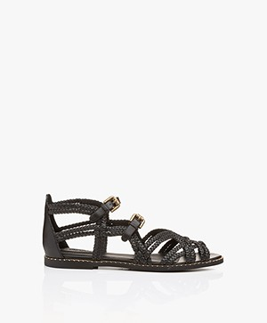 See by Chloé Katie Braided Leather Sandals - Black
