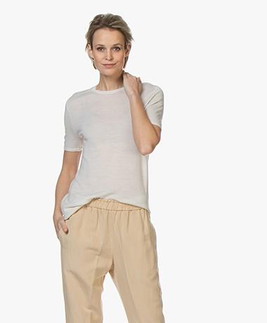 Joseph Fine Knit Merino T-shirt - Ivory