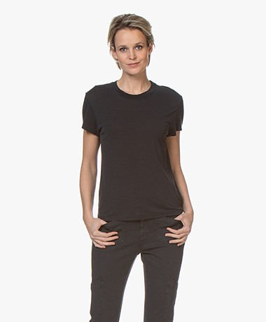 IRO Coolah Lyocell Blend T-shirt - Used Black