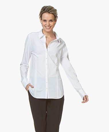 Josephine & Co Roeland Travel Jersey Blouse - White