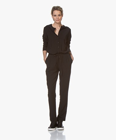 by-bar Charlie Tech Stretch Jumpsuit - Black