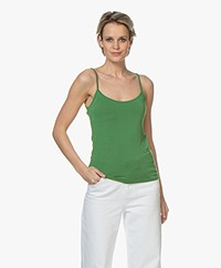 Majestic Filatures Basic Spaghetti Strap Top - Prairie Green